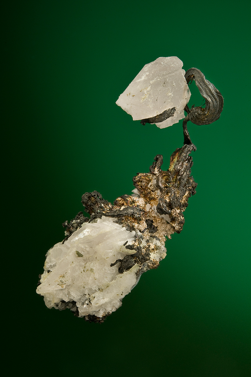 SILVER with CALCITE