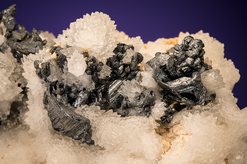 ACANTHITE on CALCITE