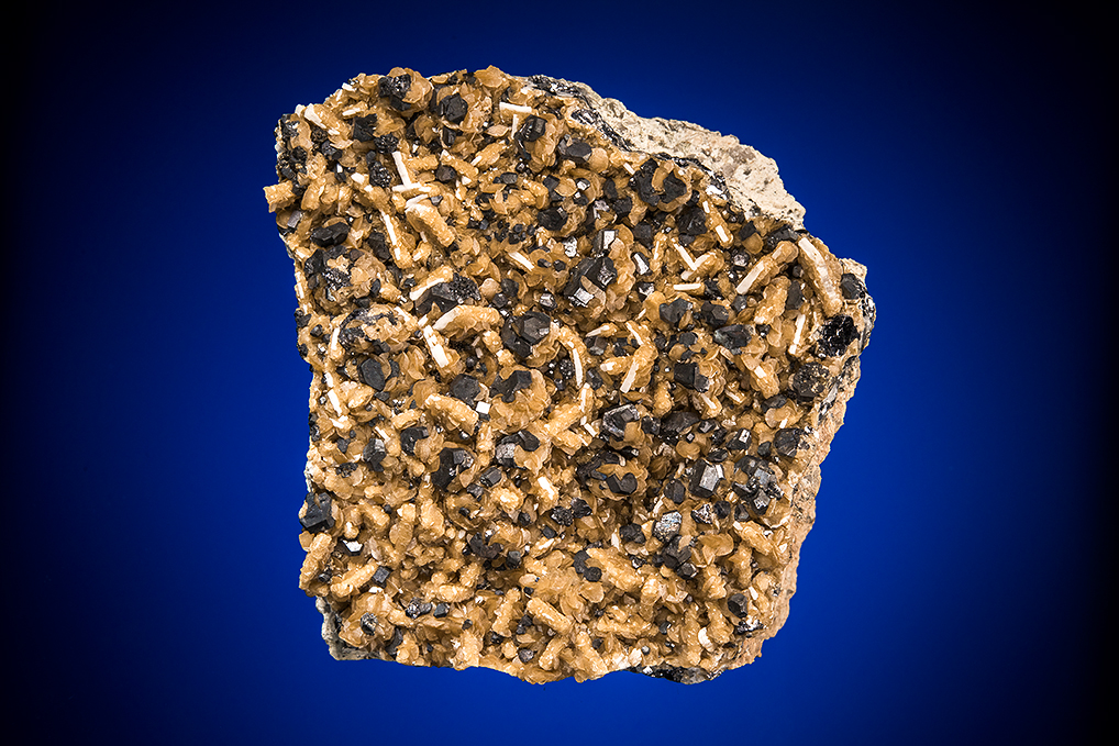 GALENA and SILVER on SIDERITE and BARITE