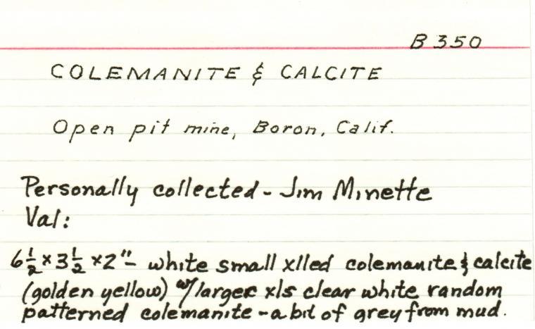 COLEMANITE with CALCITE