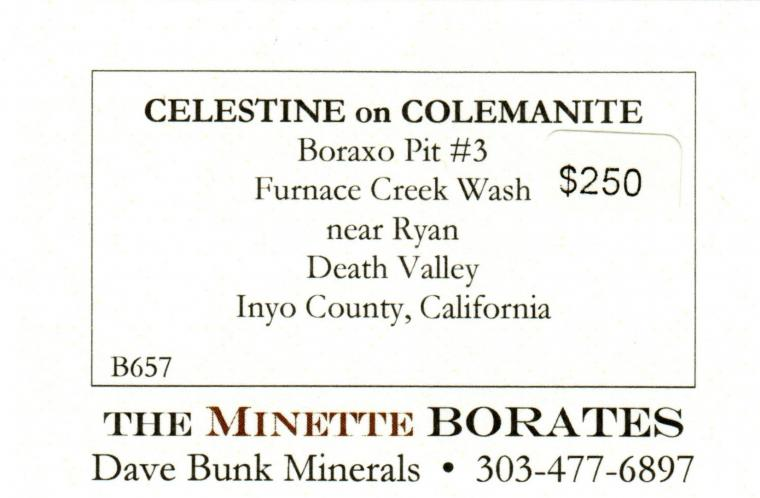 CELESTINE on COLEMANITE