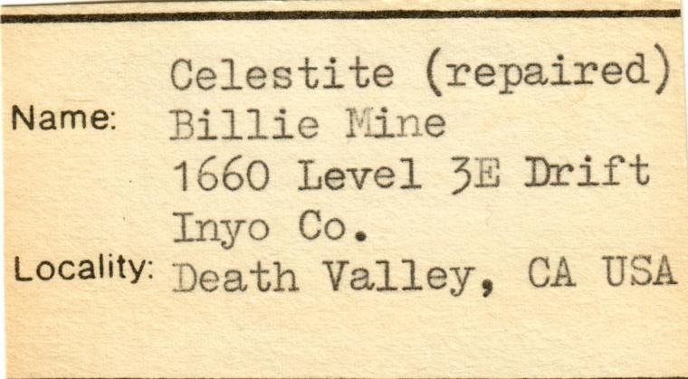 CELESTINE (repaired)