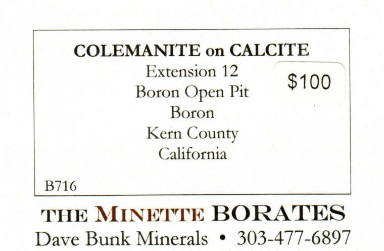 COLEMANITE on CALCITE