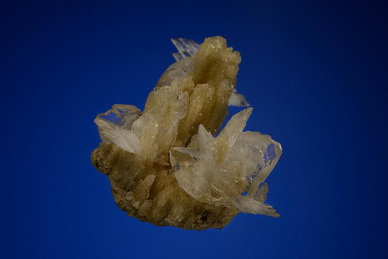 COLEMANITE on CALCITE