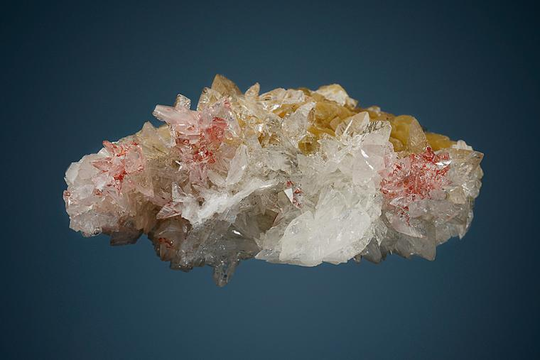 COLEMANITE with REALGAR and CALCITE