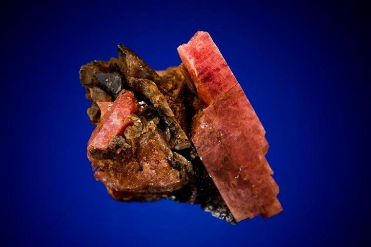 RHODONITE with BANNISTERITE and AXINITE