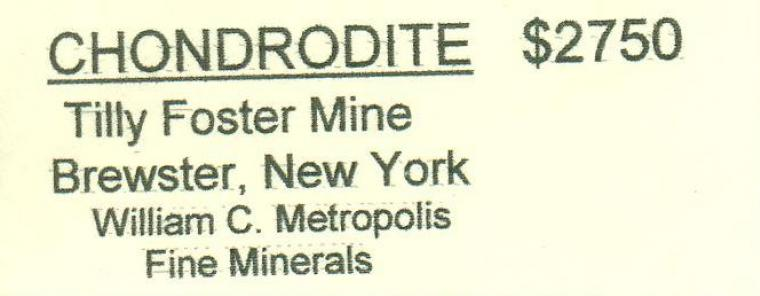 CHONDRODITE with CLINOCHLORE