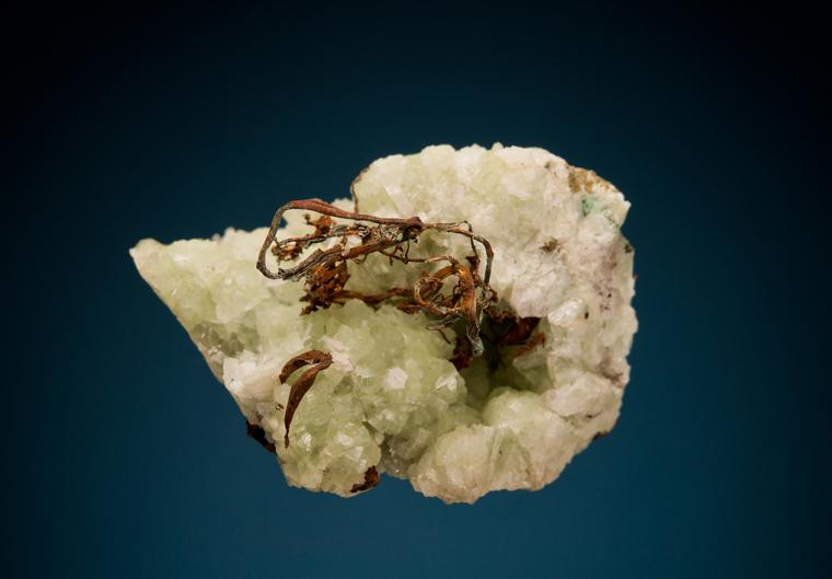 COPPER on PREHNITE