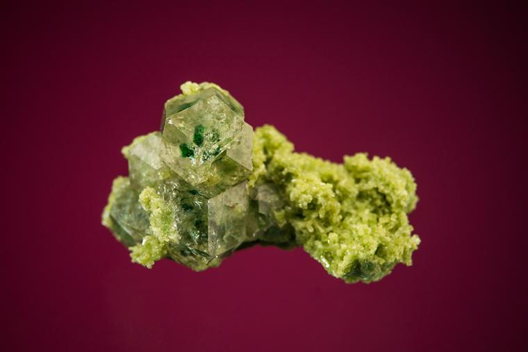 GROSSULAR on DIOPSIDE