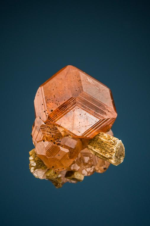 GROSSULAR var. Hessonite with DIOPSIDE