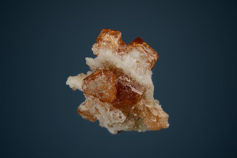 GROSSULAR var. Hessonite with DIOPSIDE