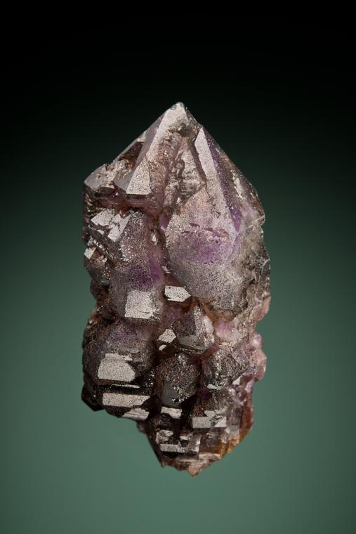 QUARTZ var. Smoky and Amethyst