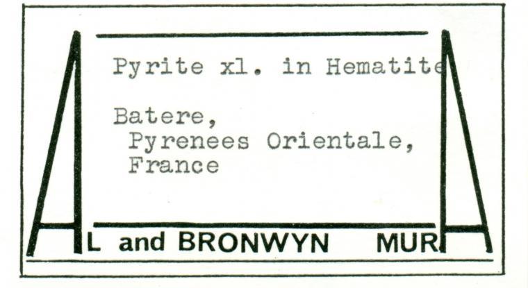 PYRITE on HEMATITE (IRON-cross twin)