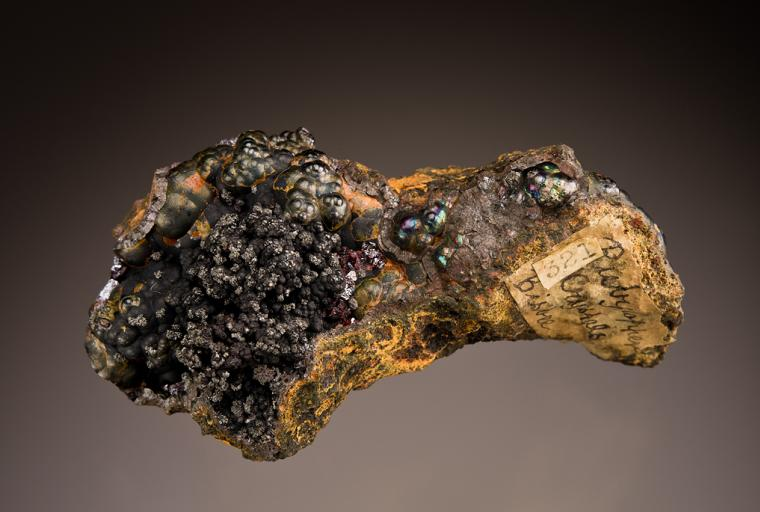 CUPRITE with DELAFOSSITE on GOETHITE