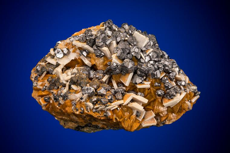 GALENA and BARITE on SIDERITE