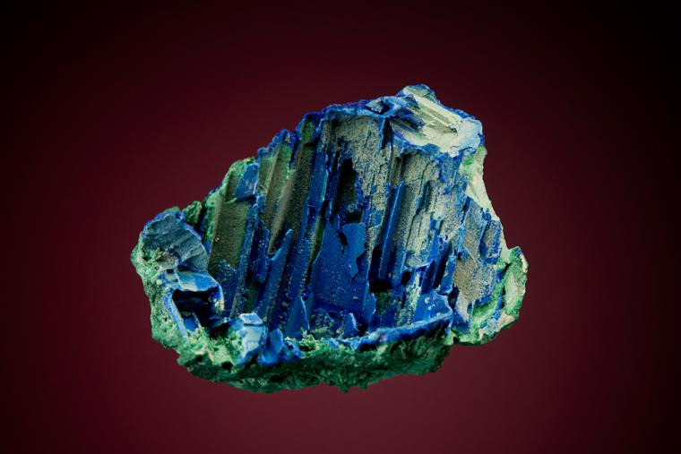 MALACHITE and AZURITE after Selenite