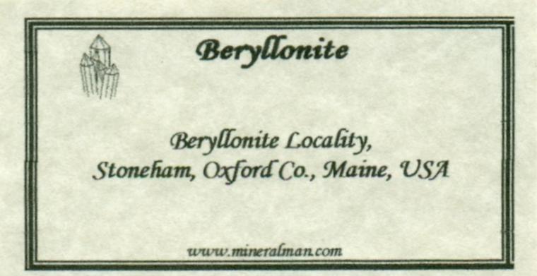 BERYLLONITE (type locality)