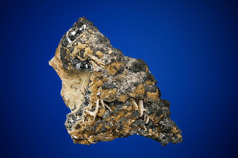 SILVER and ACANTHITE on GALENA and SIDERITE