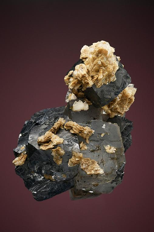 FLUORITE with GALENA and BARITE