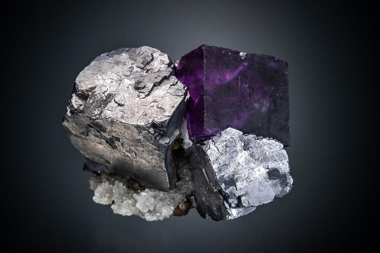 GALENA with FLUORITE