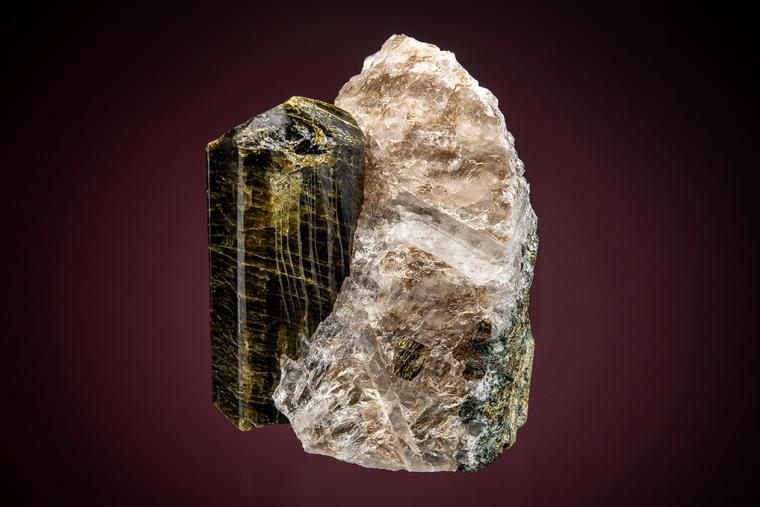 EPIDOTE on QUARTZ